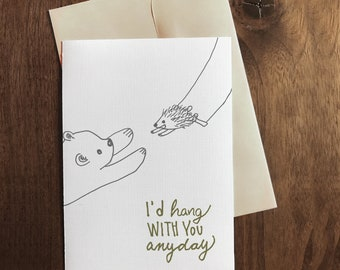 You're My Person | Valentine's Day Card | Friendship Card | Punny Card | I love you Card | Funny Card | Animal Card | Pun Card | Dating Card
