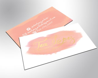 Gold Foil Business Cards, Chic