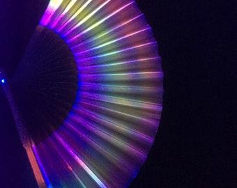 UV painted paper fan