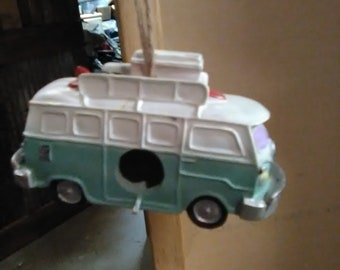 VW bus birdhouse Volkswagen Hippy Bus Peace