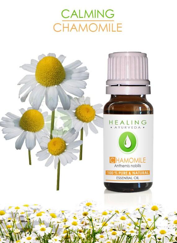 Chamomile essential oil- 100% Pure Chamomile oil- Ayurvedic essential oil- therapeutic Roman Chamomile- Aromatherapy Undiluted essential oil