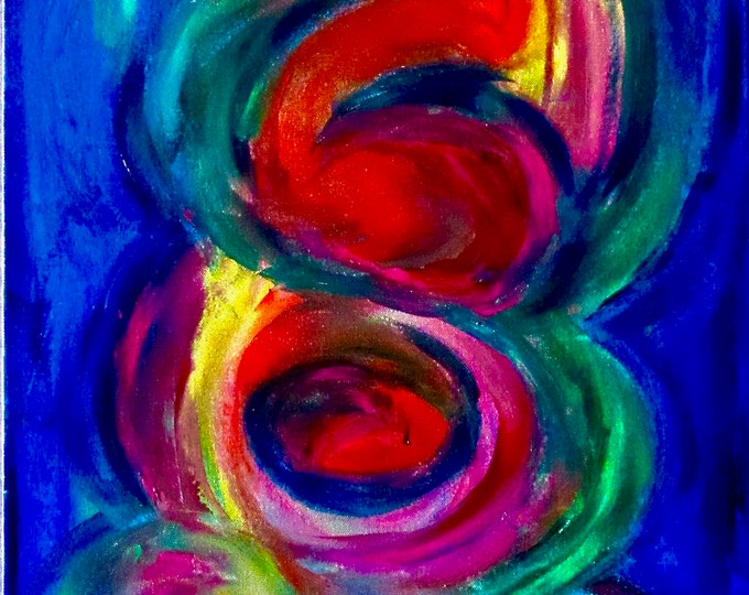 """Abstract Painting """"Bounce"""""""