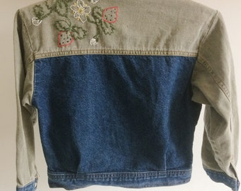 Unique Jacket jeans / hand embroidered / 5 years