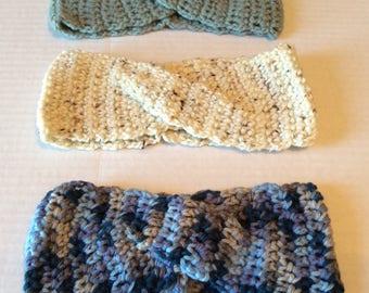 Crochet Twist Headband Customizable