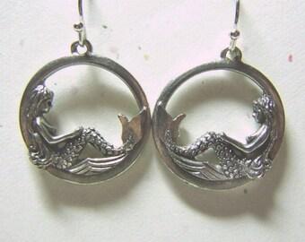 Mermaid Dreams Hoop Earrings Silver