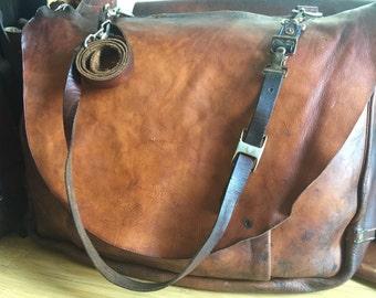 Vintage Rare XL 1969 Bucheimer USPS Leather Postal Mail Bag Saddlebag Messenger
