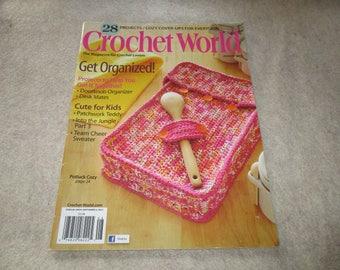 Crochet World Magazine Back Issue August 2013 Crocheting Craft Yarn Pattern