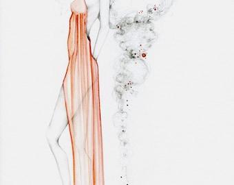 Fashion Illustration Print Fashion Sketch Fashion Print Fashion Wall Art Fashion Girl Art Girl Art Women in Art
