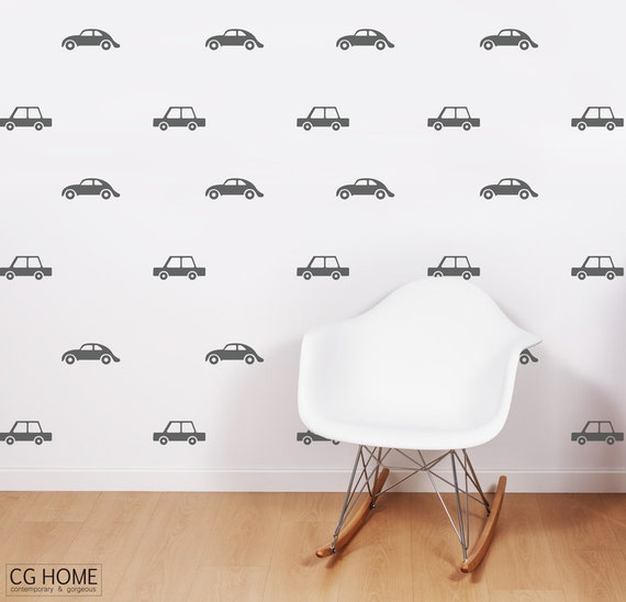 Cars Wall Decals Transportation Vehicles Wall Stickers Baby Boy Room Decor Customized Nursery Decoration express makeover