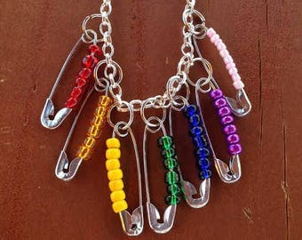 Rainbow Pride Dangle Necklace