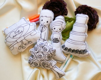Wedding Color Pillow Set Wedding Activity for Kids Gifts for Wedding Party