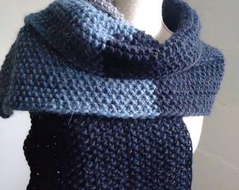 Chunky Scarf for women Handmade, 50% merino wool, 25 - Alpaca,