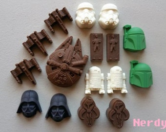 Chocolate Jedi Knight Set, Star Wars, Geek Candy, The Force