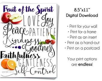 Fruit of the Spirit Printable
