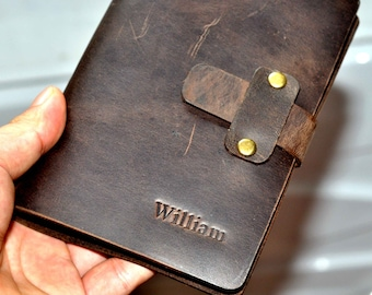 Custom Leather Binder Leather Journal  Leather Notebook(free stamp)