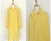 Vintage Yellow Shift Dres...