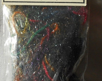 rainbow multi colored/sparkle YARN-Scrapbooking/fiber art/embellished quilting-Embellishment Village #1155