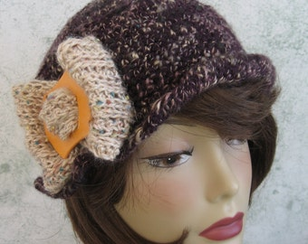 Crochet Hat Pattern Womens Brimmed Cloche With Large Bow Trim Chemo Hat Pattern Instant  Download