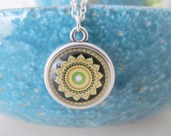Mandala necklace, yoga necklace