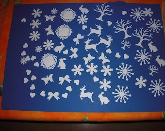 Set of 100 punches: snow theme