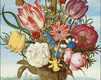 Poster, Many Sizes Available; Ambrosius Bosschaert - Bouquet Of Flowers On A Ledge -