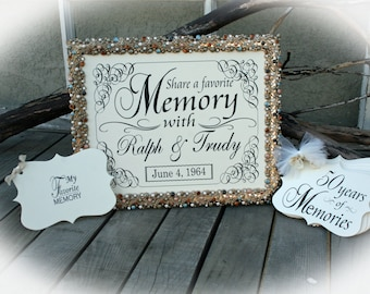 50th Anniversary Party Favorite Memory Station | Wishes for the 50th anniversary | 50th Anniversary Decoration- Favorite Memory station- NR