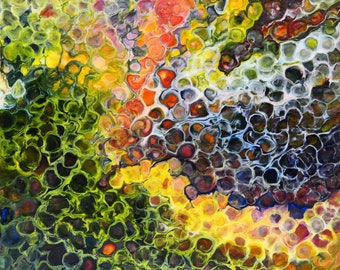 Synapse is made by AjAspinall AbstractArt created on canvas one-off original unique painting signed Certificate of Authenticity