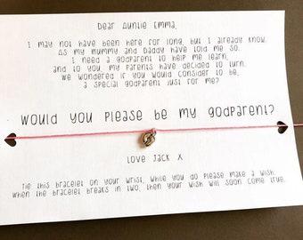 Personalised Godparent Wish Bracelet
