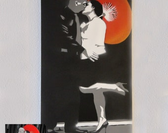 """Customizable Portrait Spray Painting, 12""""x20"""" Canvas - Made to Order"""