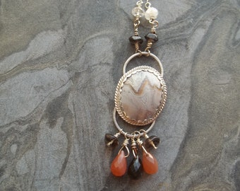 Mexican Lace Agate necklace