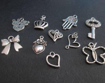 10 charms mixed 10 different patterns # B