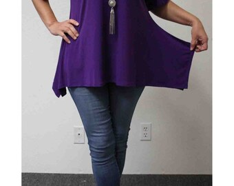 New Classic Plus size Tunic top with cut out details to the shoulders. S to 3XL