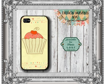 Cupcake iPhone Case, Gift for Her iPhone Case, iPhone 5, 5s, 5c, 4, 4s, iPhone 6, 6s, 6 Plus, SE, iPhone 7, 7 Plus, Galaxy S6, S5, S4