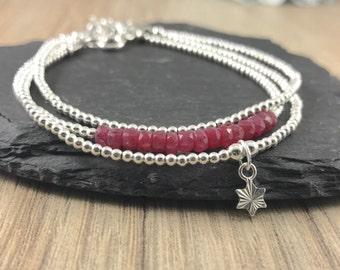Stacking Bracelet Set - Set of bracelets, Stacking Bracelets, Dainty Bracelets, gemstone bracelets, sterling silver jewellery