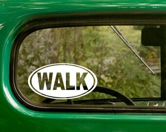 Walk Decal, Walking Sticker, Hiking Sticker, Euro Decal, Laptop Sticker, Oval Sticker, Car Decal, Bumper, Vinyl Decal, Car Sticker