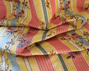 Fabulous piece of antique French silk striped fabric