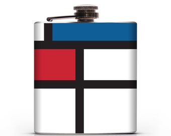 Mondrian- 6oz Liquor Hip Flask
