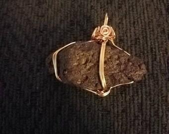 Natural lava rock pendant