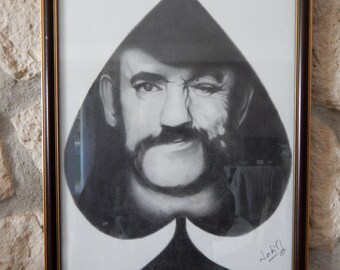 "Lemmy Kilmister portrait, ""Ace of Spades"""