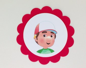 HANDY MANNY Gift Tags & Cupcake Toppers (12ct)