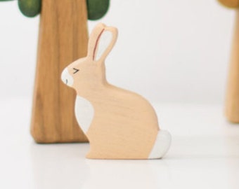 Wooden Toy Hare Forest Animal Toy Bunny Toy for Toddlers Rabbit Toy