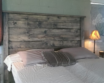 "Distressed Headboard, ""Weathered Edward"" headbaord, Rustic, wood headboard, queen headboard, king headboard, full headboard, twin head, foot"