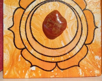Small sacral chakra painting