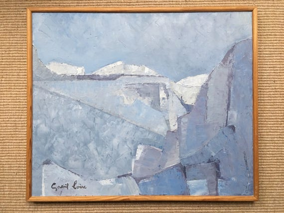 Gabriel Loire (1904-1996) French oil on canvas icy landscape 'Eternite' exhibited Galleri Briggen 1976 signed and framed