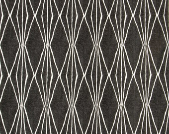 Robert Allen @ Home, Handcut Shapes Charcoal, Geometric Fabric, Grey and Ivory Drapery Fabric, Gray Fabric - By the 1/2 yard - SHIPS FAST