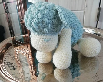 Sleepy Sheep, crochet toy, comforter