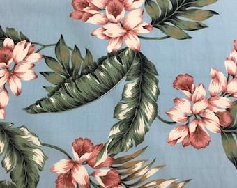 SALE! Hawaiian Print in Cotton Fabric  (Yardage Available)