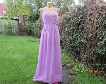 Long Dress / Open Back Long Dress / Long Dress Maxi / Long Dress Lilac / Maxi Dress Purple  Long Dress Size EUR40 / 42 / UK12 / 14