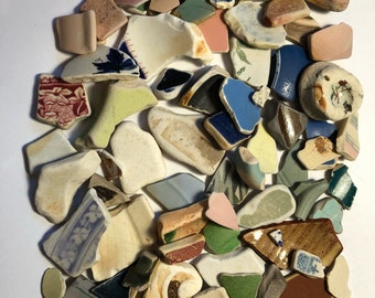 Large Lot Of British Sea Pottery (80 Pieces)