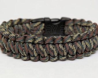 550 Paracord Survival Bracelet  - Camo Pattern